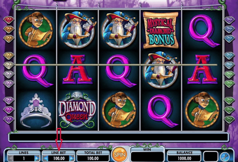 Diamond Queen slot tips
